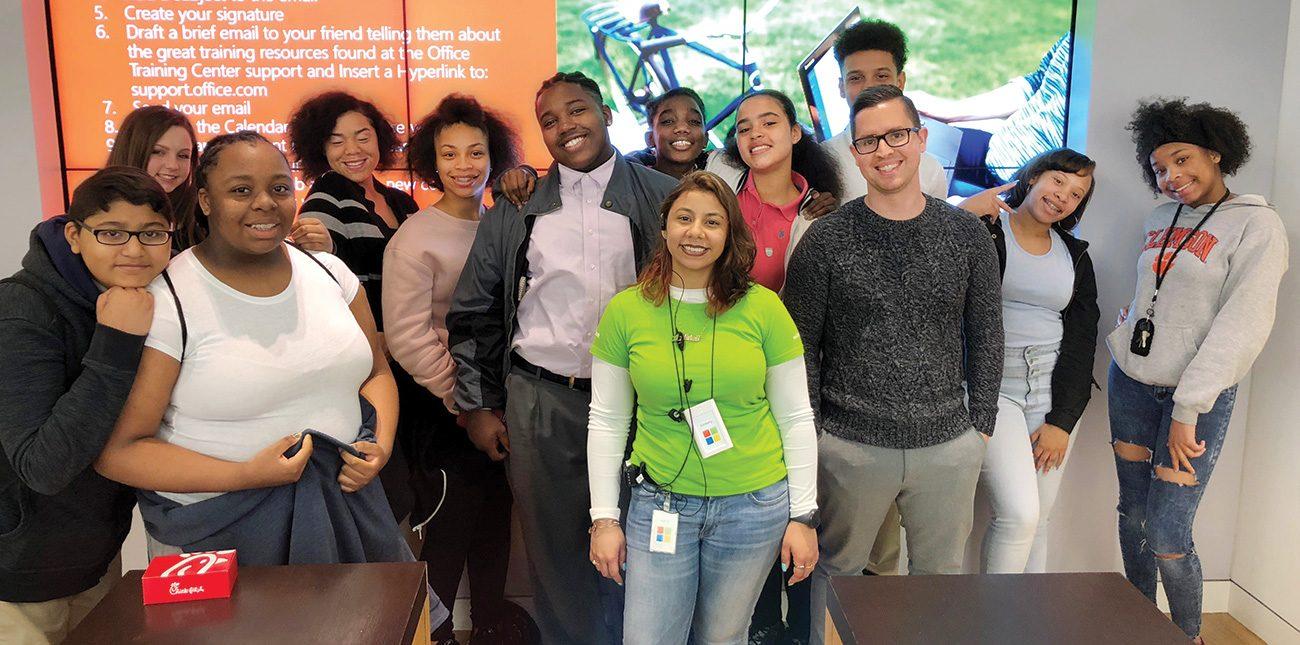 Students at Microsoft